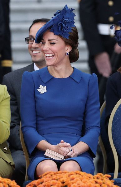 Catherine, Duchess of Cambridge attends the Official Welcome Ceremony for the Royal Tour at the British Columbia Legislature on September 24, 2016 in Victoria, Canada.