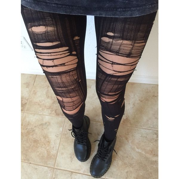 Opaque Ripped Tights ($21) ❤ liked on Polyvore featuring intimates, hosiery, tights, transparent tights, sheer tights, sheer stockings, opaque pantyhose and sheer hosiery