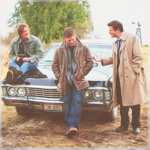 The Winchester boys and Castiel. They are all just so dang cute!