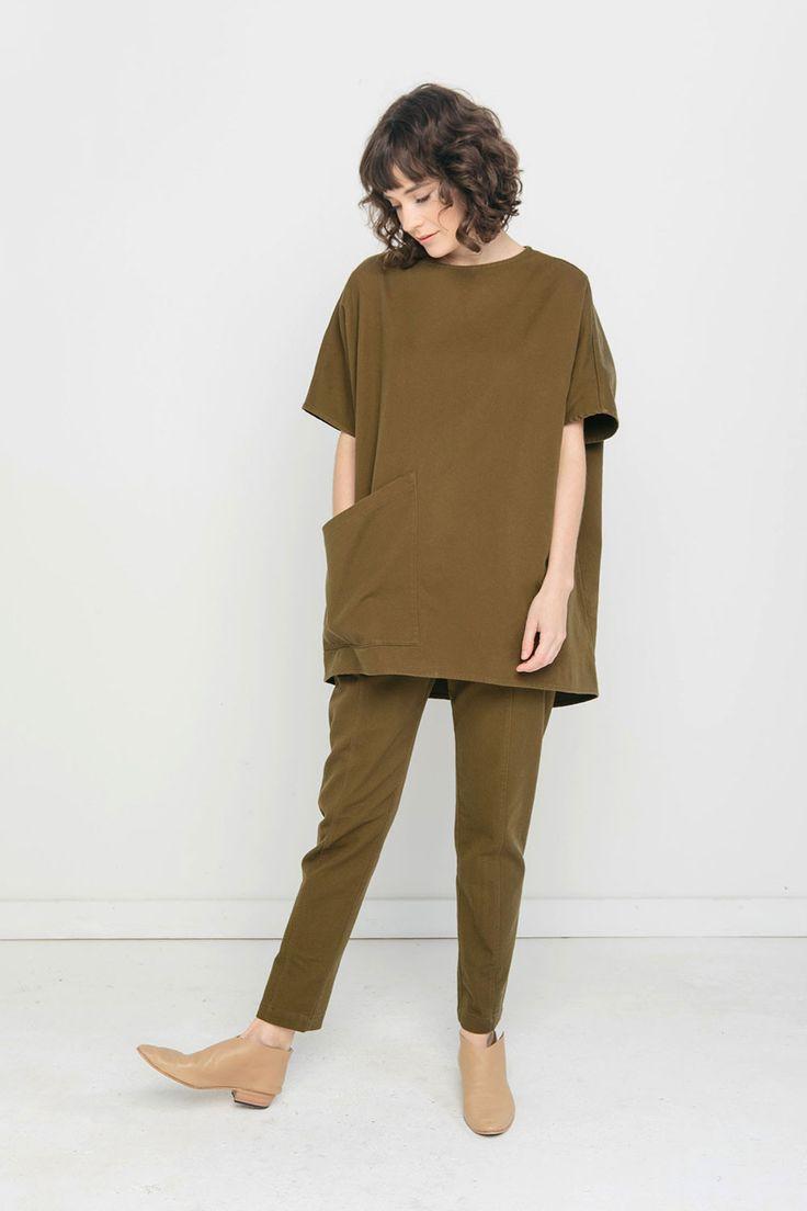 Harper Tunic in Cotton Twill – Elizabeth Suzann
