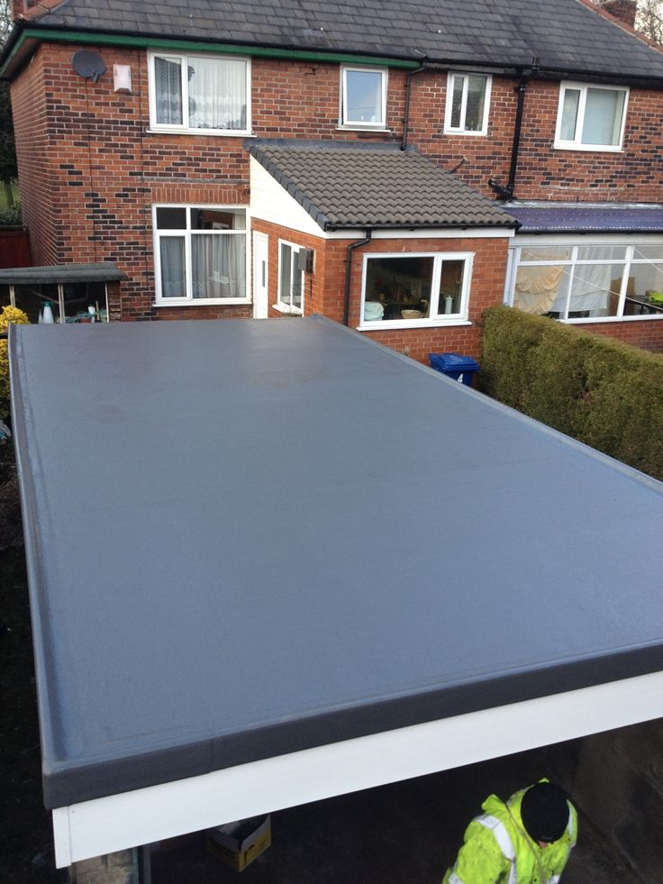 High Quality This Garage Roof In Bury Was Completely Transformed When We Installed A Grp  Roofing System,