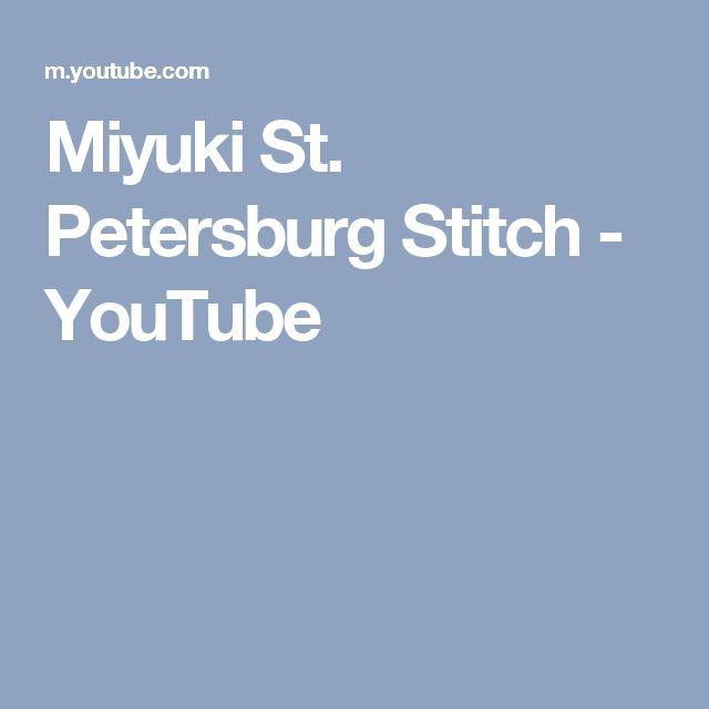 Miyuki St. Petersburg Stitch - YouTube