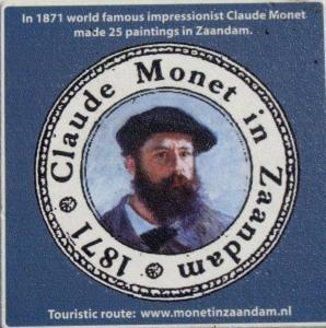 Claude  Monet was in 1871 in Zaandam en maakte daar 25 schilderijen