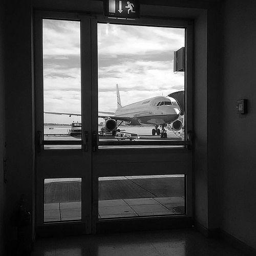 #airport #airplane #exit #sky #clouds #no_filter #nofilter #blackandwhite #bnw #bw #november #athens #greece #IaTriDis | by IaTriDis