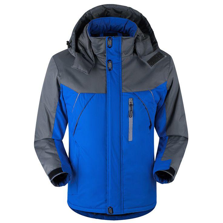 -30 C FIT Plus Thick Velvet Down & Parka coat 6XL 7XL 8XL  winter jacket men waterproof windproof chaquetas hombre #Affiliate