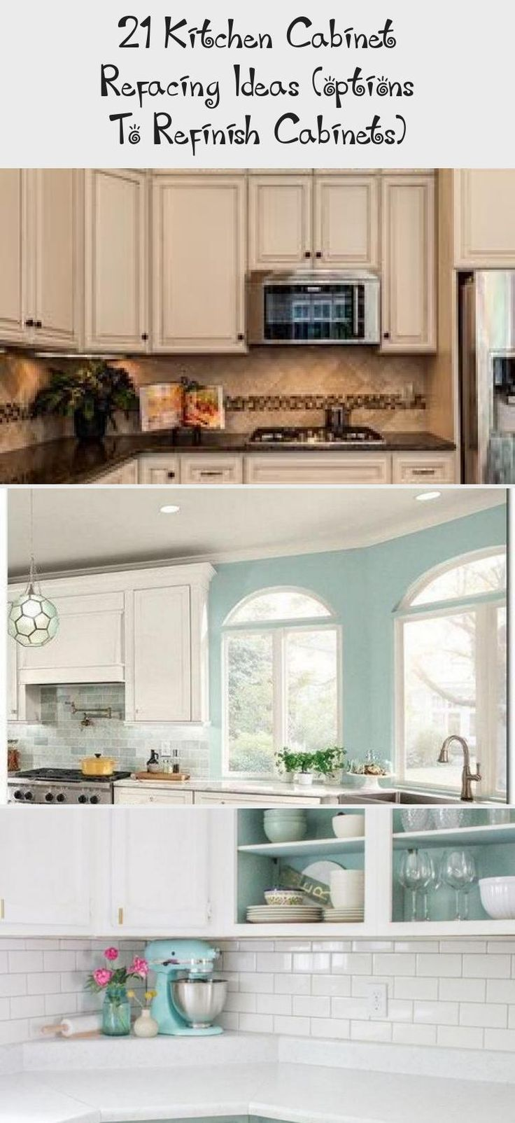 21 Kitchen Cabinet Refacing Ideas (options To Refinish ...