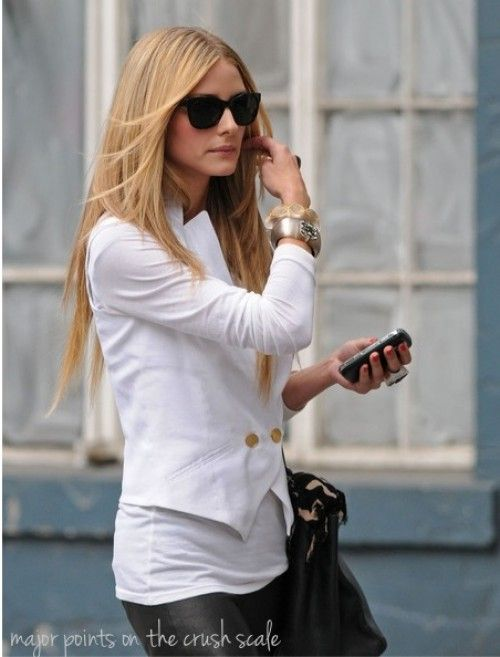 cropped white blazer