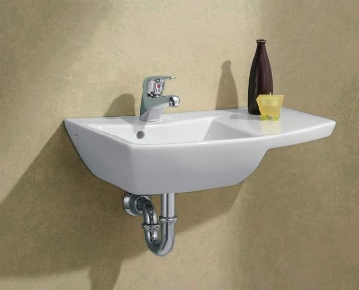 High Quality NOVA Wall Mount Bathroom Sink With Right Hand Asymmetric Shelf