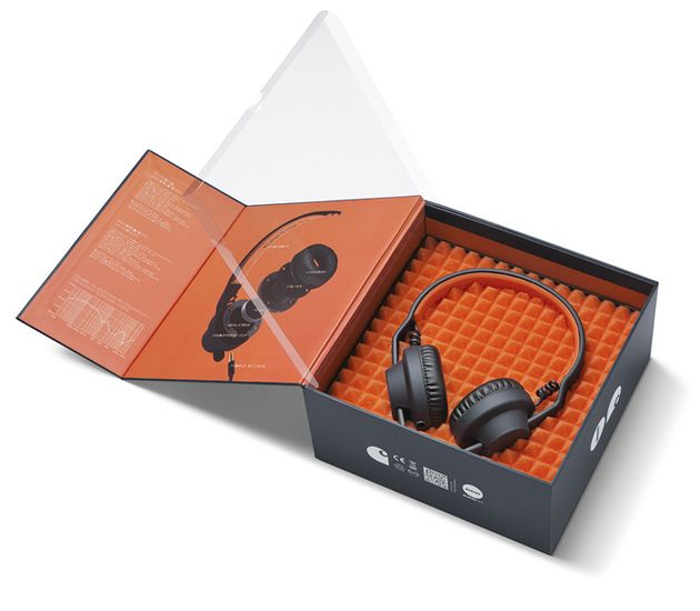 Deep Night / Carhartt Orange PD - The inside of this presentation box has been thought thrown every bit as carefully as the outer design