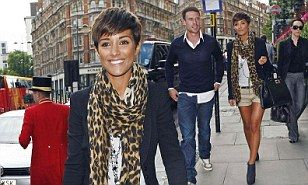 Frankie Sandford shows off her endlessly long bronzed legs on day out with boyfriend Wayne Bridge | Daily Mail Online