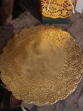 "8.5"" Round Gold Foil Doilies (50 PACK)"