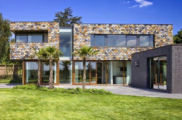 Desain Rumah Kotak Dengan Arsitektur Modern