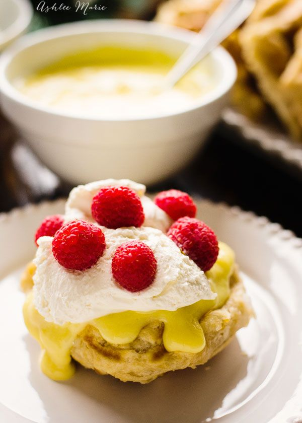 sweet and crunchy and warm, liege waffles are pretty much perfection. Top with this tart homemade lemon curd, whipped cream and raspberries and it is seriously one of the best things you will ever eat
