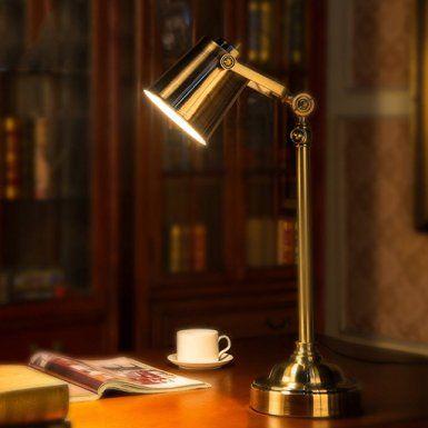 Buona cosa lampada da tavolo Americano Lampada da tavolo Lampada da comodino camera da letto Retro industriale del metallo vento del Libro antico Desk Luce Learning