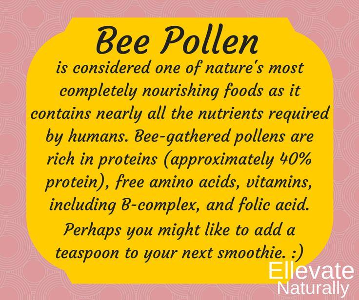 Bee Pollen  https://www.facebook.com/ellevatenaturally/photos/a.512672888762584.128986.512666322096574/946181938745008/?type=1&theater