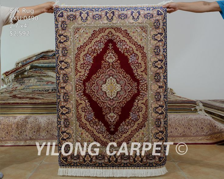 Yilong 2.7u0027x4u0027 Tabriz Silk Carpet Red Vantage Handmade Exquisite Handmade Rug  Prices (