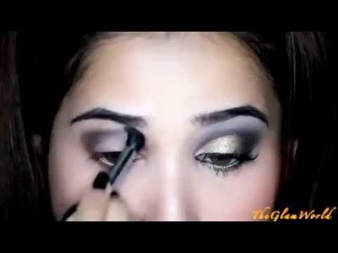 Glam Gold Eyes and Pink Lips Makeup Tutorial