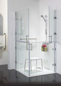 900 X 900 Wet Room Shower Full Height Hinged Split Screens. These Split  Frameless Shower