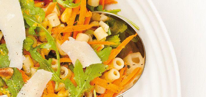 Salade de pâtes aux agrumes Recettes | Ricardo: Salad, With, Pasta Salad, Citrus Recipes, Pulp, Pasta