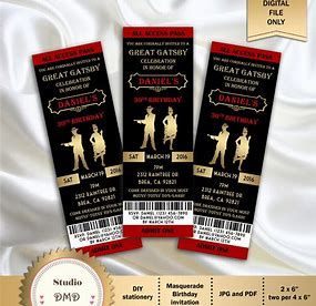 Image result for Harlem Nights Theme Party Invitations