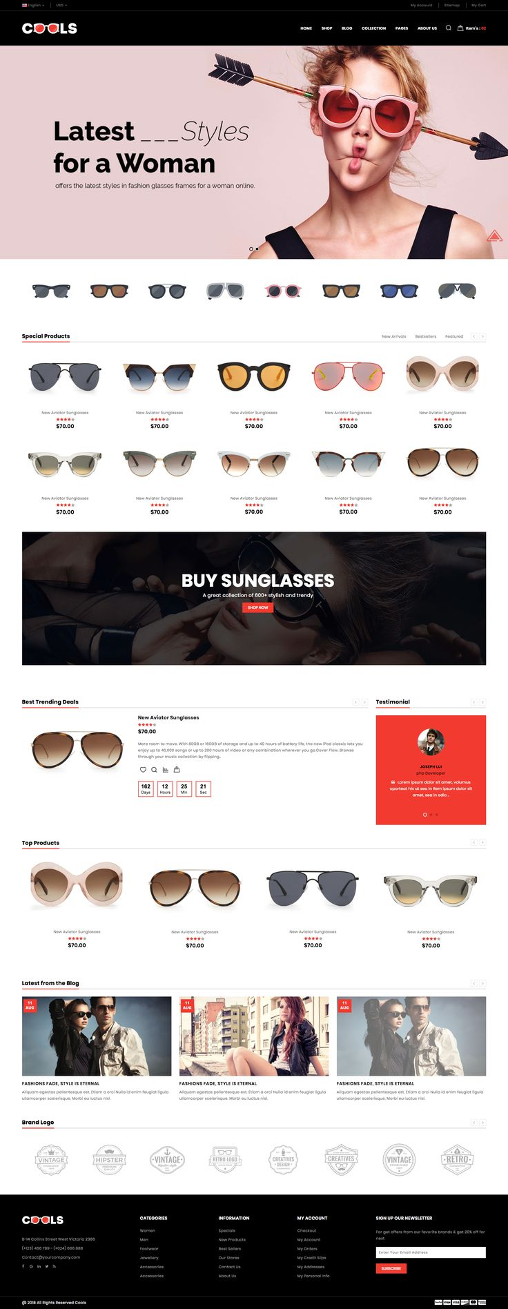 Cools E-Commerce Bootstrap Responsive Template