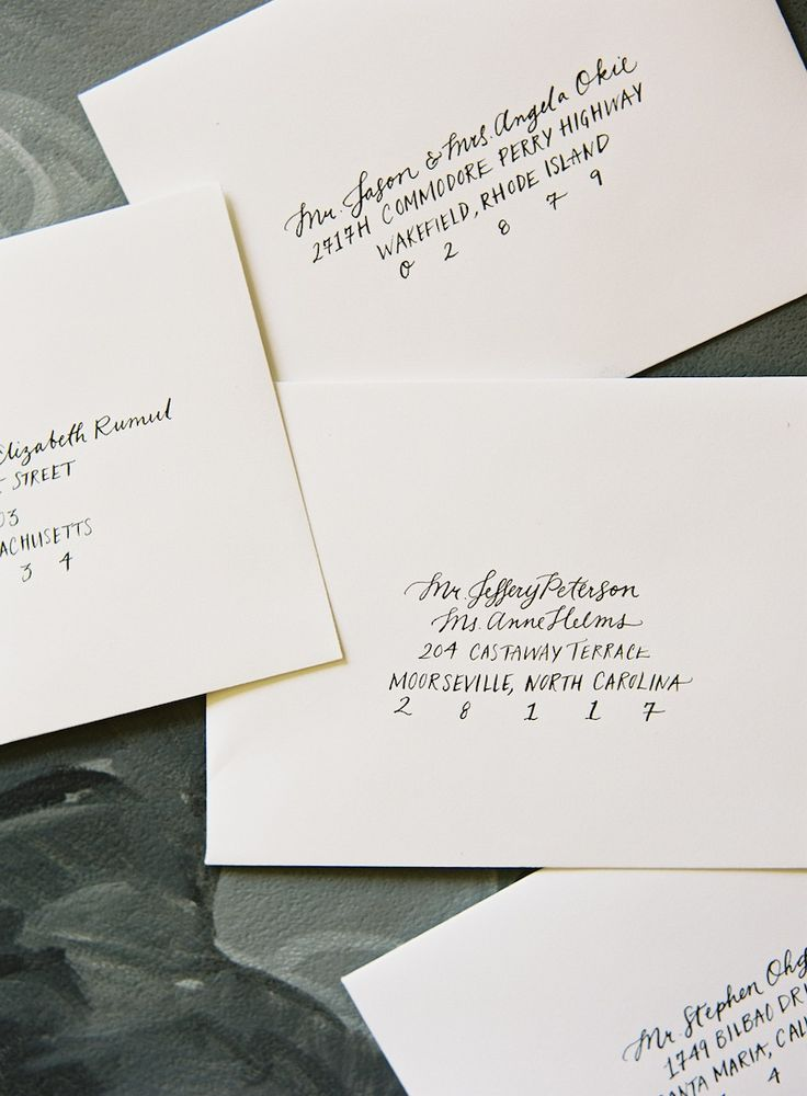 Mixed Handwriting for Addressing Wedding Invitations