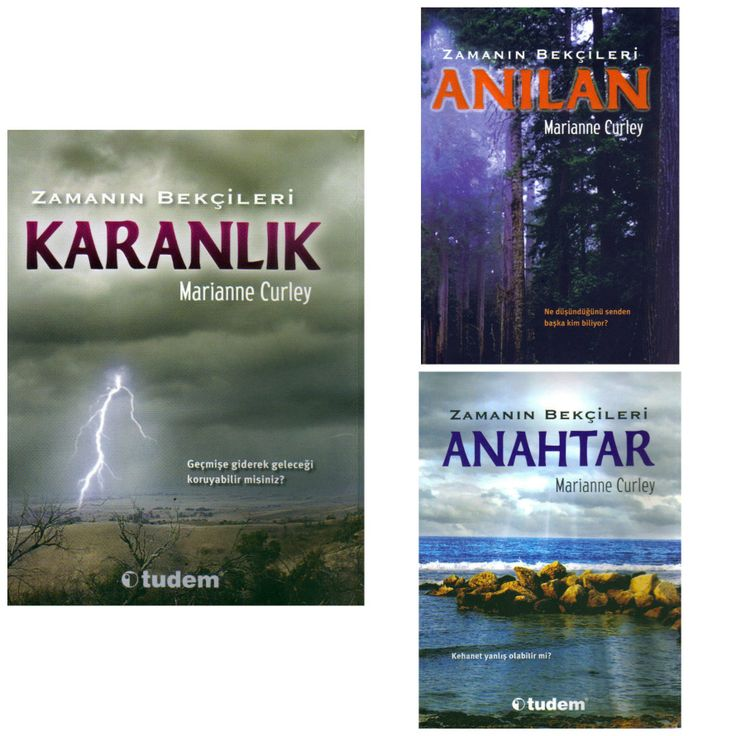 Covers of the Guardians of Time Trilogy from Turkey