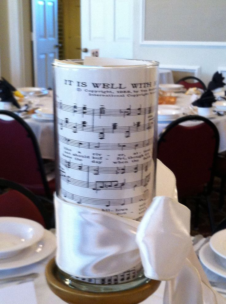 Music Themed Tablescape At The Fall 2012 Women S Auxiliary Luncheon Women S Auxiliary
