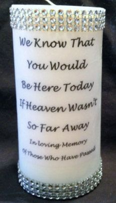 Memory Candle Rememberance Candle by RibbonPersonalized on Etsy, $17.99: