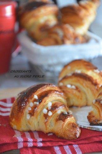 Croissants au sucre perlé