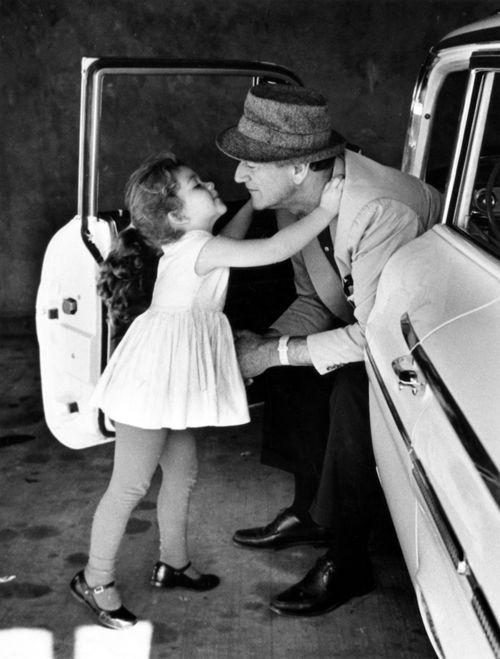 John Wayne and his daughter. I bet he was an amazing Daddy .