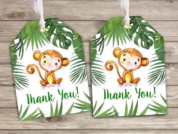 banana baby shower 1st birthday printable backdrop sign poster banner for dessert table monkey personalized safari jungle animals