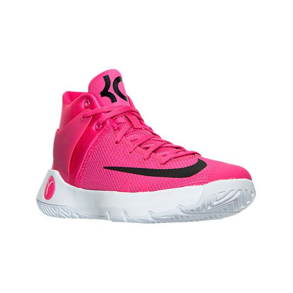 Nike Men's KD Trey 5 IV Basketball Shoes ($115) ❤ liked on Polyvore featuring men's fashion, men's shoes, men's athletic shoes, pink, mens basketball shoes, men's low top shoes, pink mens basketball shoes, nike mens athletic shoes and mens low tops