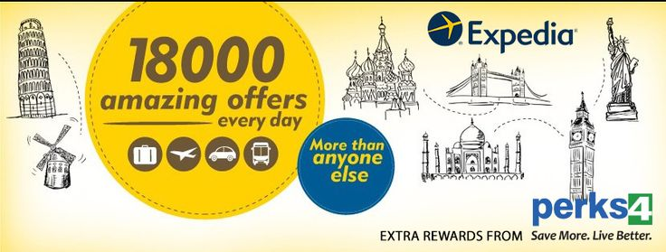 Book hotels, flights, car rentals for low cost through expedia and Get extra savings from Perks4 >>https://goo.gl/GFuEkd << #expedia #carrentals #hotels #flighttickets #perks4
