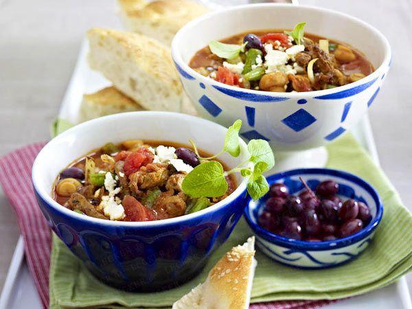 Schnelle Suppen - löffelweise Genuss im Handumdrehen - gyros-tomaten-suppe  Rezept