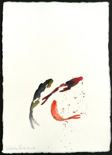 Dotted fishes, watercolor on handmade cotton paper #watercolor #fishes