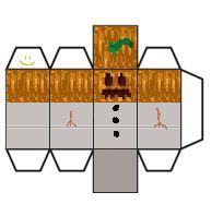 Papercraft Mini Snow Golem