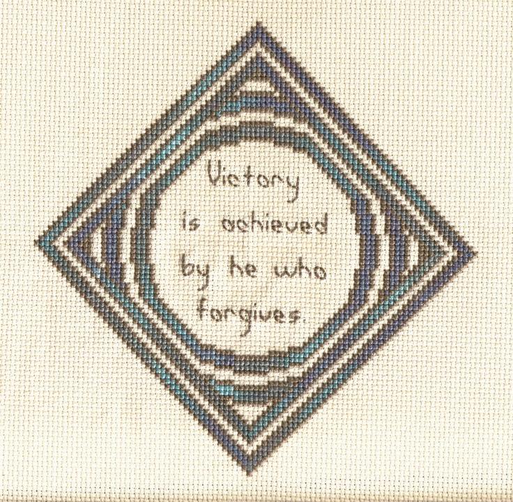 Yoruba Proverb crossstitch