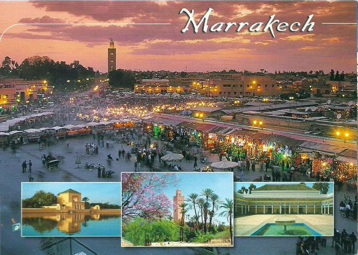 Images of travel in Marrakech, a major city in Morocco.