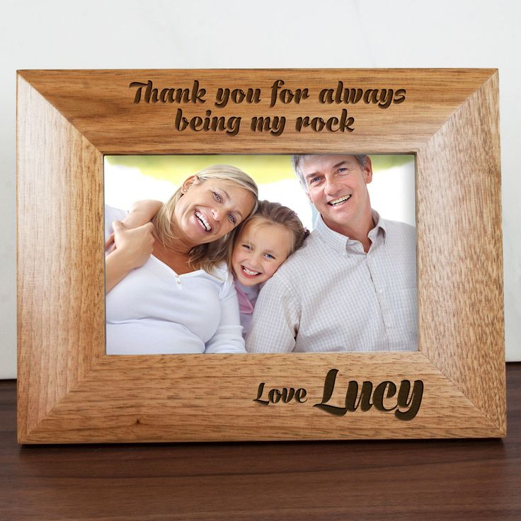 Say a big thank you to a dad who has always been there fro you with this fantastic personalised photo frame. Personalised My Dad Is My Rock Engraved Photo Frame - yourgifthouse