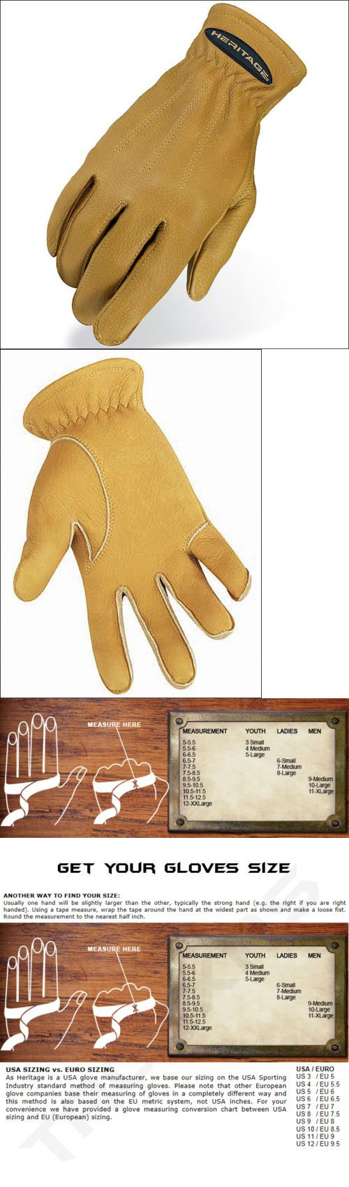 Leather work gloves ebay - Riding Gloves 95104 7 Size Heritage Sheepskin Trail Natural Tan Riding Gloves Horse Equestrian