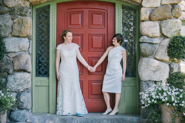 Wedding Photography: Alison Slattery Photography #wedding #love #ido #lesbian #gay #family #brides #twobrides # details #dress #flowers #marriage #willowdaleestate