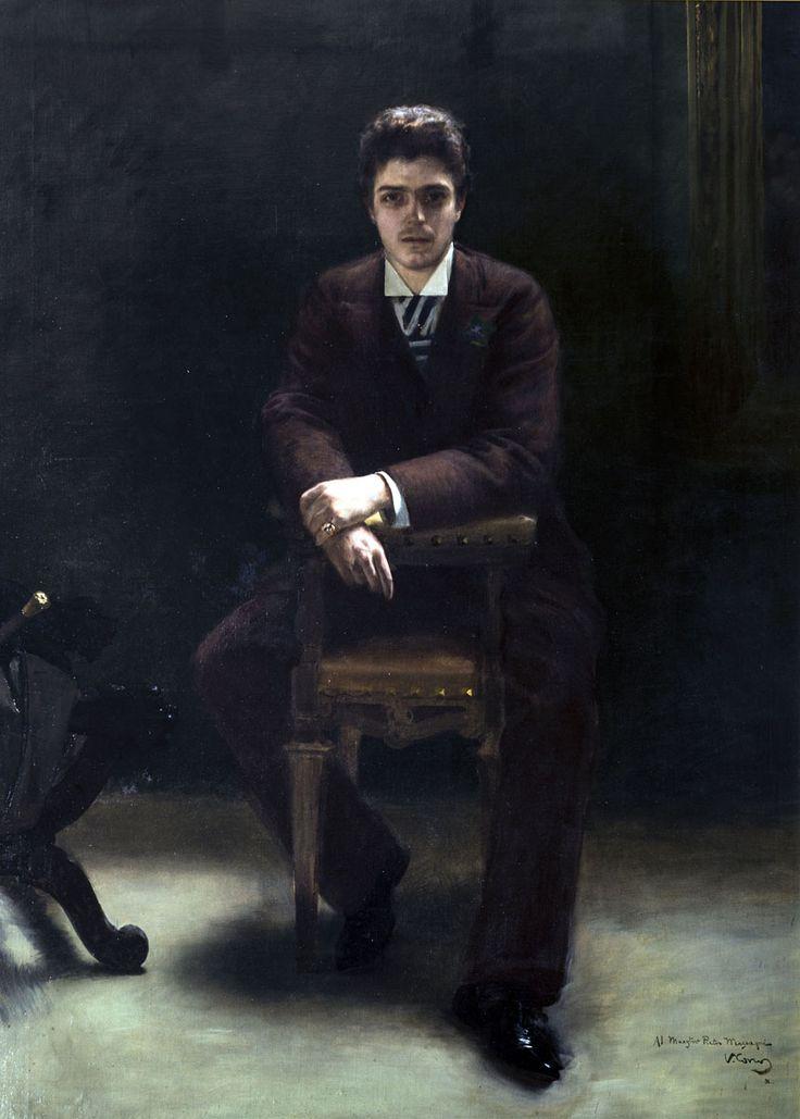 Vittorio Coscos, Portrait of Pietro Mascagni, 1910