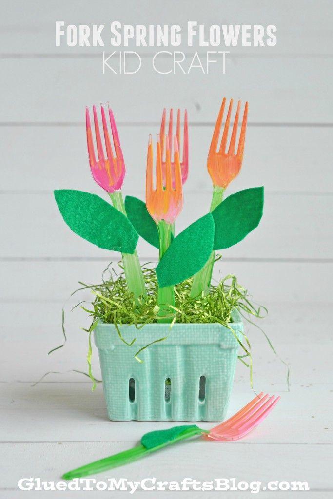 Fork Spring Flowers - Kid Craft