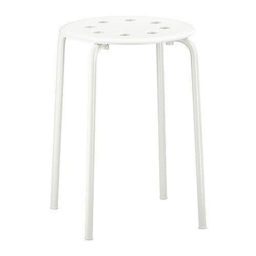 Amazon.com: Ikea - Marius Stool Stackable - White: Furniture & Decor