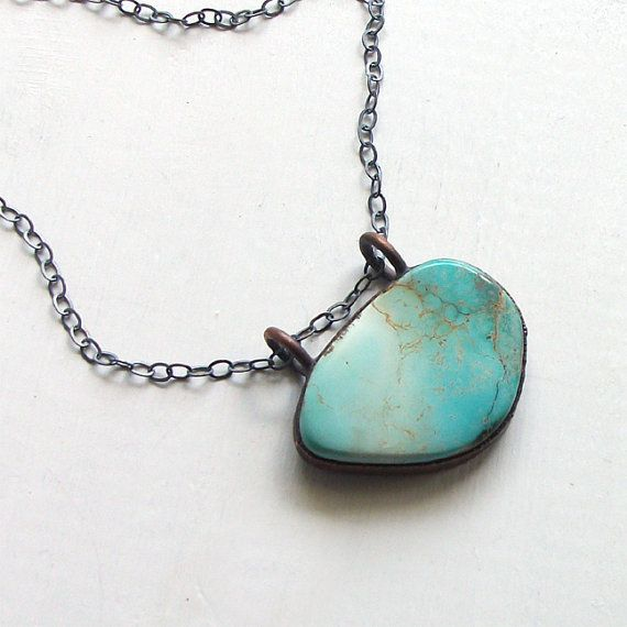 Turquoise Necklace Tribal December Birthstone by MidwestAlchemy, $90.50