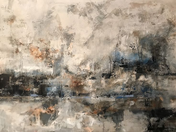 "San Fran  Oil & Wax on canvas  36"" x 48"" Original work by Athanasia Susie Colomvakos"