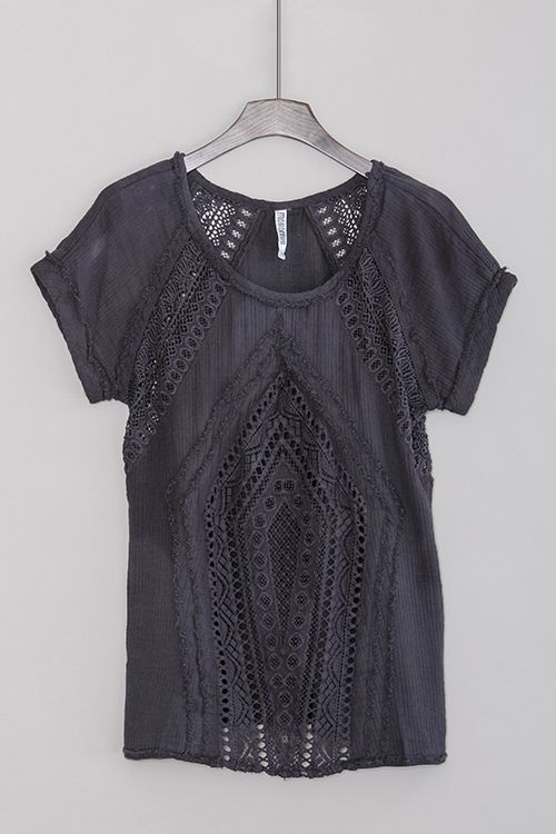 Now this is pretty. Very,pretty .Tibbie Top in Charcoal