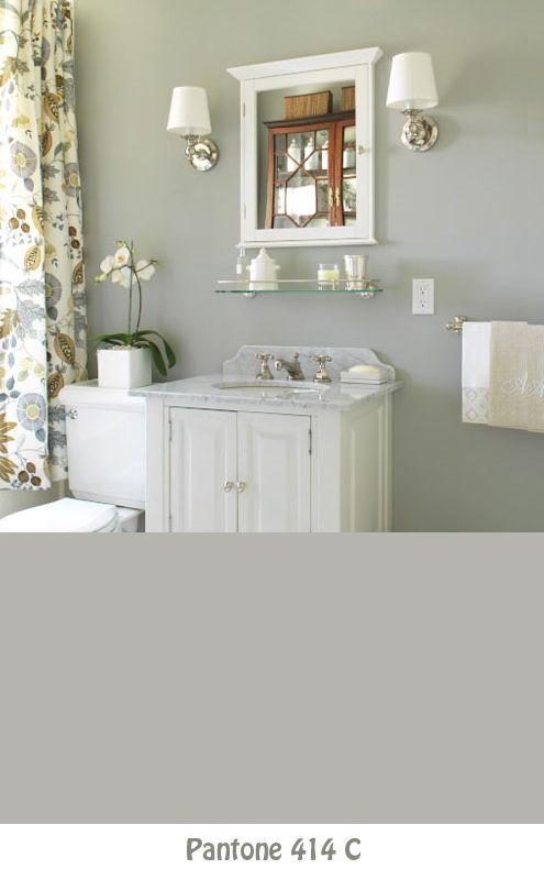 pikes peak gray Benjamin Moore paint: Wall Colors, Bathroom Color, Home Decor, Paint Colors, Bathroom Ideas, Gray, Exploring Wall, Design, Paint Colour