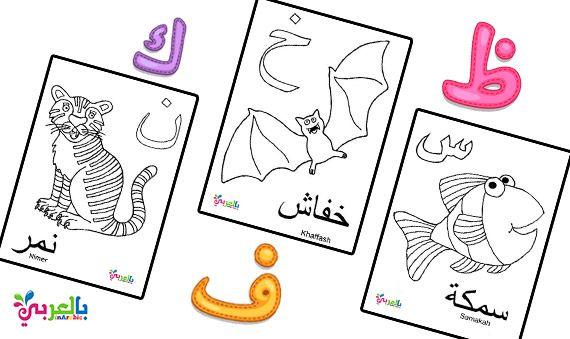 اوراق تلوين الحروف العربية واسماء الحيوانات للاطفال Islamic Kids Activities Islam For Kids Arabic Books